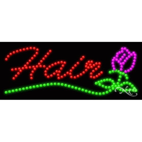"LED Sign - Hair 11""H x 27""W x 1""D (20467)"