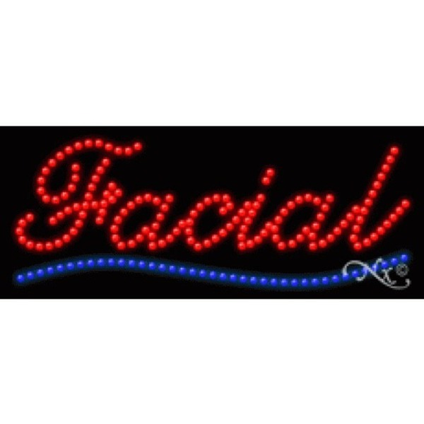 "LED Sign - Facial 11""H x 27""W x 1""D (20544)"