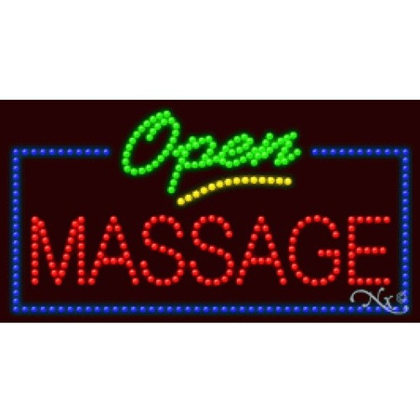 "LED Sign - Massage Open 17""H x 32""W x 1""D (20682)"