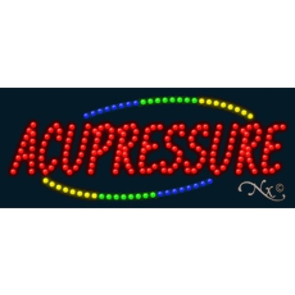 "LED Sign - Acupressure 11""H x 27""W x 1""D (20722)"