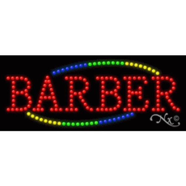 "LED Sign - Barber 11""H x 27""W x 1""D (20739)"