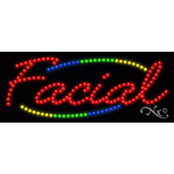 "LED Sign - Facial 11""H x 27""W x 1""D (20793)"
