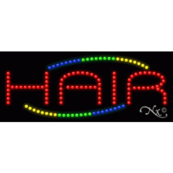 "LED Sign - Hair 11""H x 27""W x 1""D (20810)"