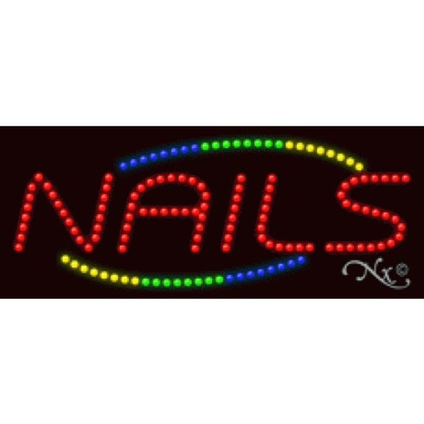 "LED Sign - Nails 11""H x 27""W x 1""D (20847)"