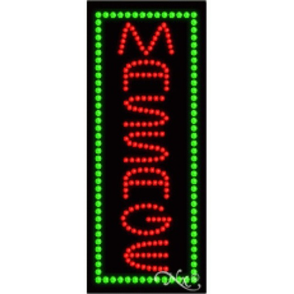 "LED Sign - Massage 27""H x 11""W x 1""D (21006)"