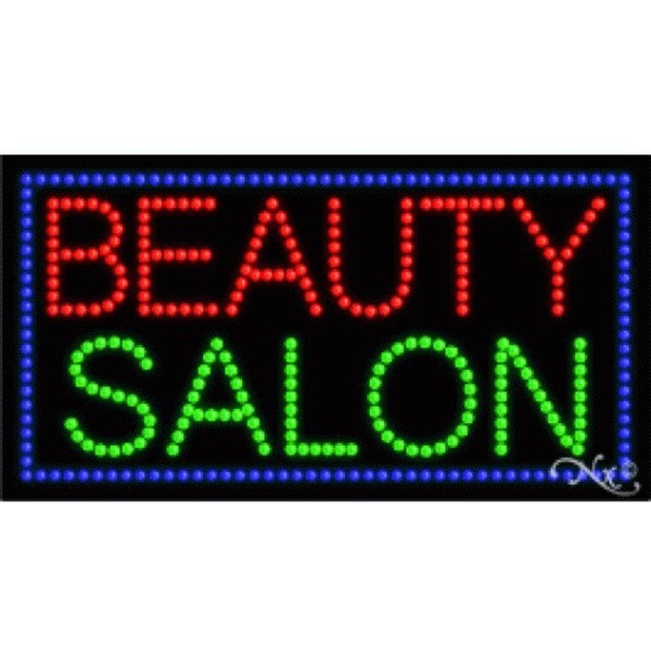 "LED Sign - Beauty Salon 17""H x 32""W x 1""D (21052)"