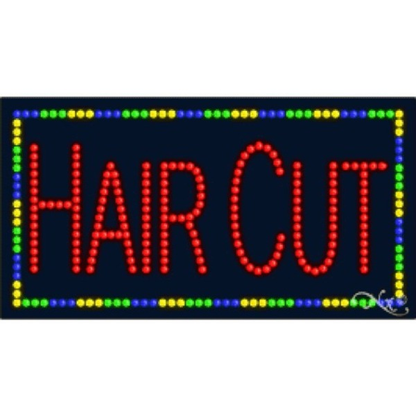 "LED Sign - Hair Cut 17""H x 32""W x 1""D (21081)"