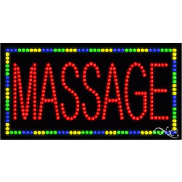 "LED Sign - Massage 17""H x 32""W x 1""D (21092)"