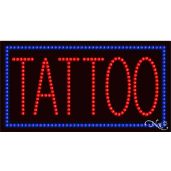 "LED Sign - Tattoo 17""H x 32""W x 1""D (21118)"