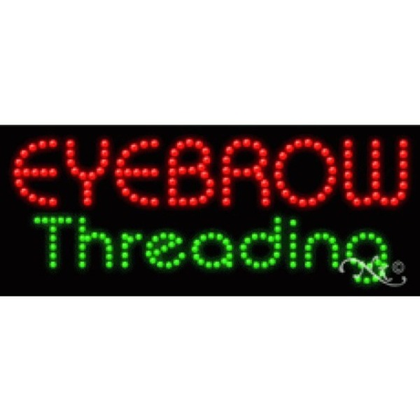 "LED Sign - Eyebrow Threading 11""H x 27""W x 1""D (21189)"