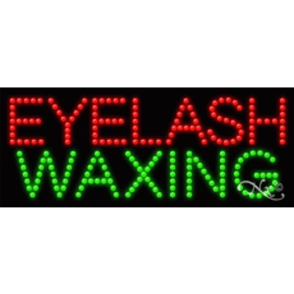 "LED Sign - Eyelash Waxing 11""H x 27""W x 1""D (21190)"