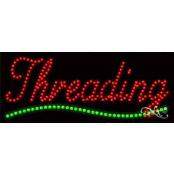 "LED Sign - Threading 11""H x 27""W x 1""D (21224)"