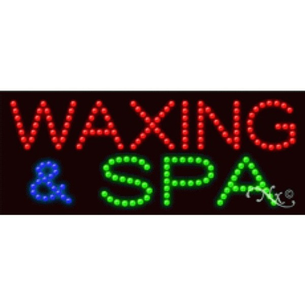 "LED Sign - Waxing & Spa 11""H x 27""W x 1""D (21231)"