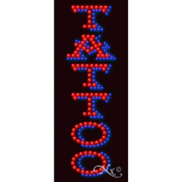 "LED Sign - Tattoo 27""H x 11""W x 1""D (21239)"