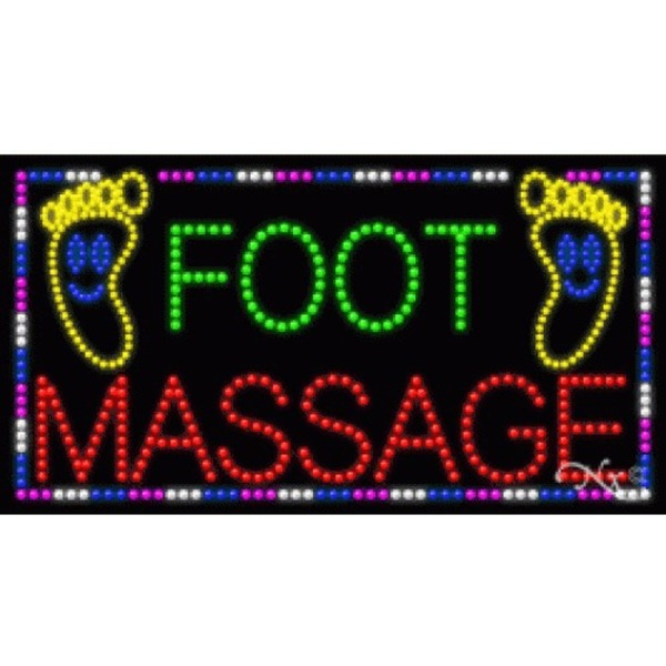 "LED Sign - Foot Massage 20""H x 37""W x 1""D (21289)"
