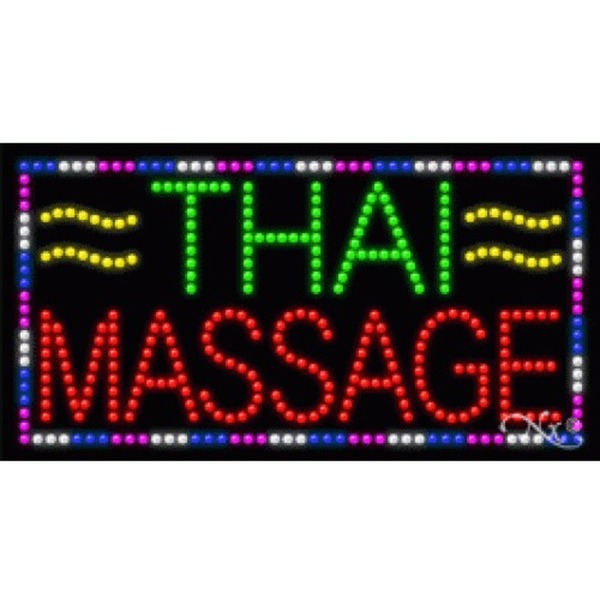 "LED Sign - Thai Massage 17""H x 32""W x 1""D (21305)"