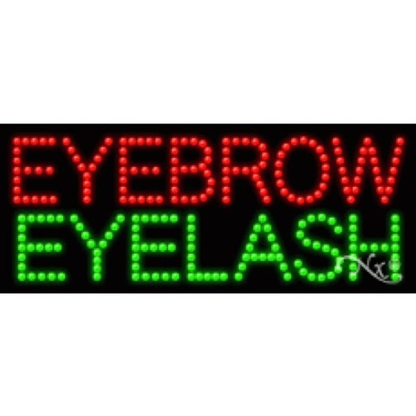 "LED Sign - Eyebrow Eyelash 11""H x 27""W x 1""D (21397)"