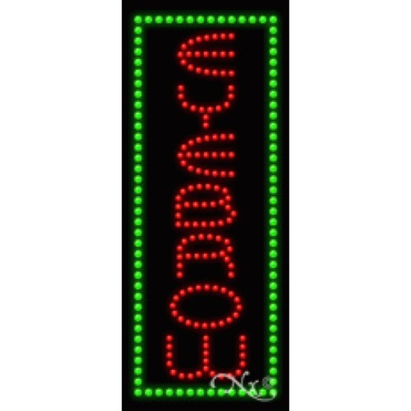 "LED Sign - Eyebrow 27""H x 11""W x 1""D (21555)"
