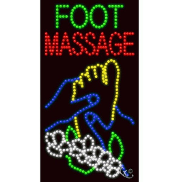 "LED Sign - Foot Massage 37""H x 20""W x 1""D (21705)"