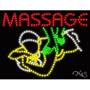 "LED Sign - Massage 20""H x 26""W x 1""D (21745)"