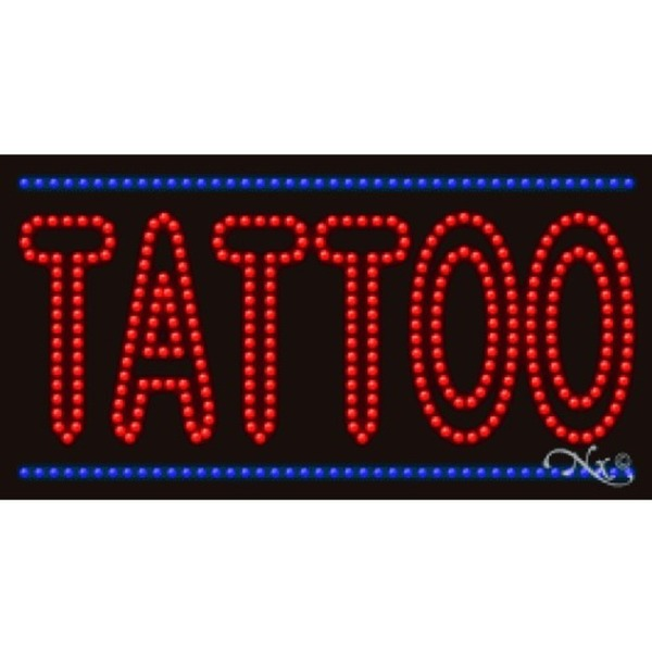 "LED Sign - Tattoo 17""H x 32""W x 1""D (21790)"