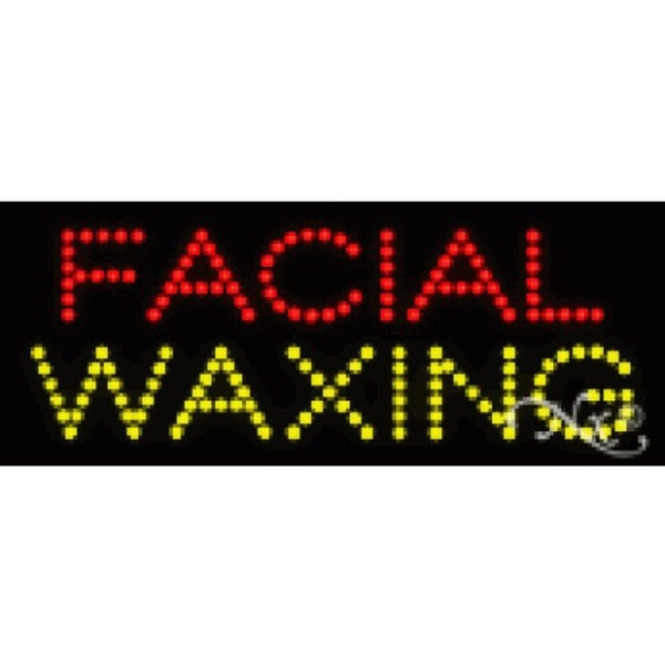 "LED Sign - Facial Waxing 8""H x 20""W x 1""D (22059)"