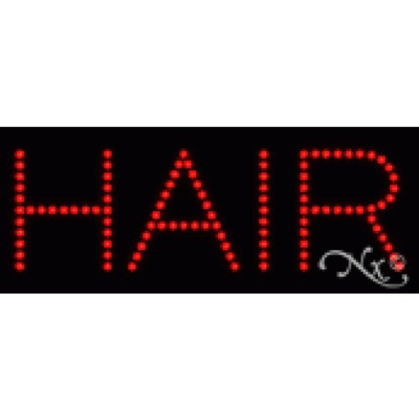 "LED Sign - Hair 8""H x 20""W x 1""D (22074)"