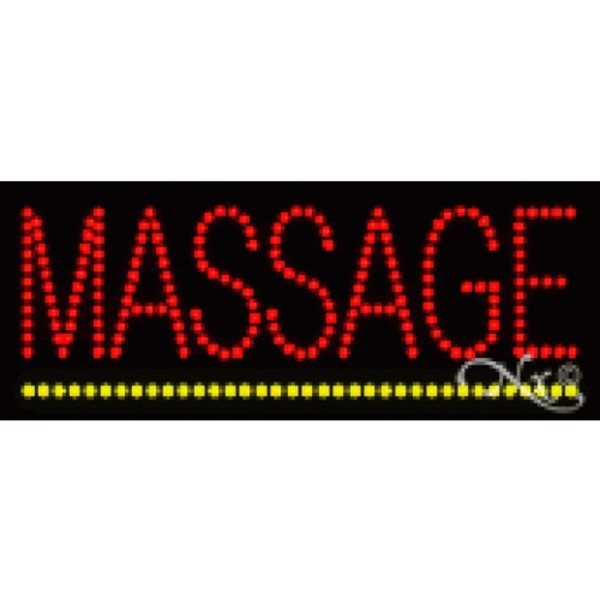 "LED Sign - Massage 8""H x 20""W x 1""D (22098)"