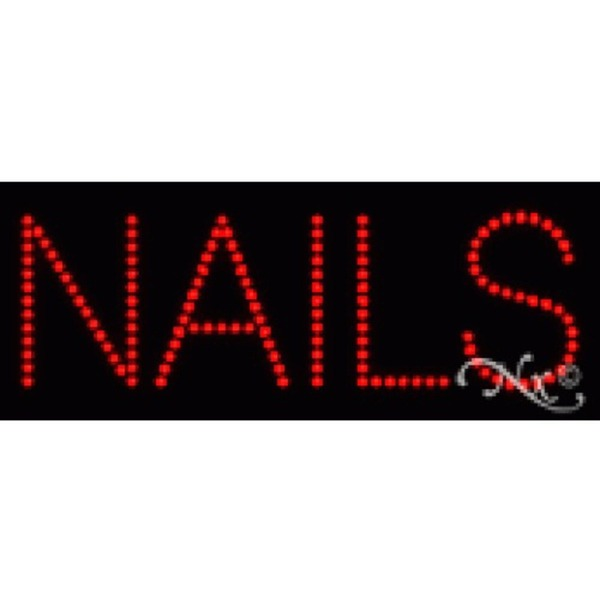 "LED Sign - Nails 8""H x 20""W x 1""D (22107)"