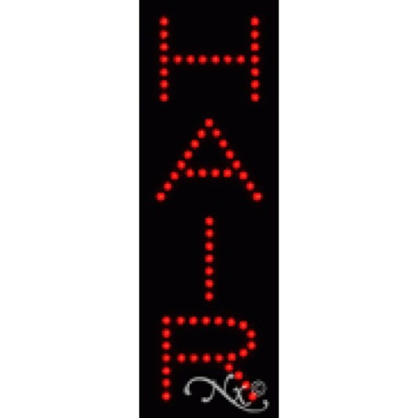 "LED Sign - Hair 21""H x 7""W x 1""D (22241)"