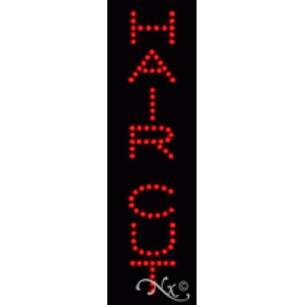 "LED Sign - Hair Cut 24""H x 7""W x 1""D (22242)"