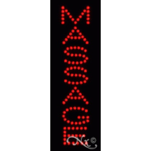 "LED Sign - Massage 21""H x 7""W x 1""D (22260)"