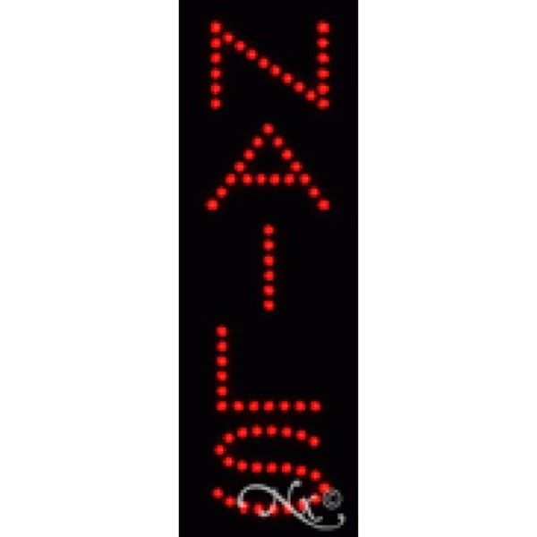 "LED Sign - Nails 21""H x 7""W x 1""D (22266)"