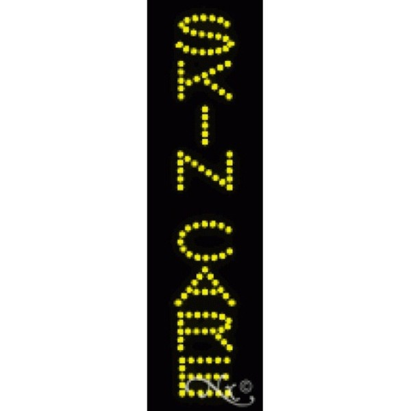 "LED Sign - Skin Care 25""H x 7""W x 1""D (22293)"