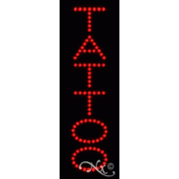 "LED Sign - Tattoo 21""H x 7""W x 1""D (22306)"