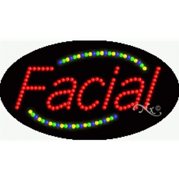 "LED Sign - Facial 15""H x 27""W x 1""D (24001)"