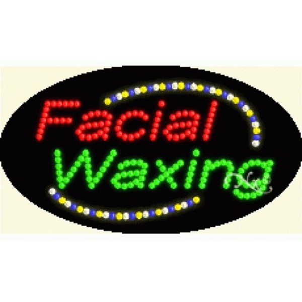 "LED Sign - Facial Waxing 15""H x 27""W x 1""D (24002)"
