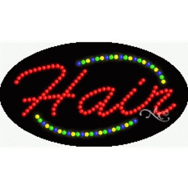 "LED Sign - Hair 15""H x 27""W x 1""D (24003)"