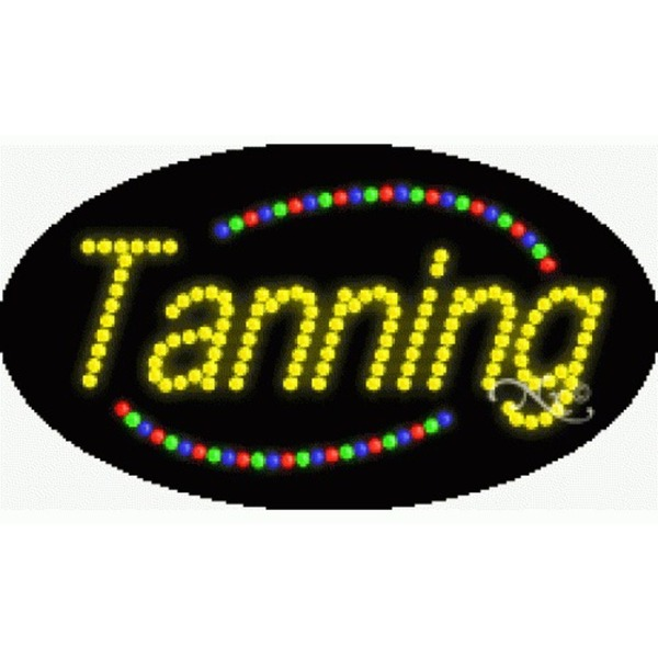 "LED Sign - Tanning 15""H x 27""W x 1""D (24013)"