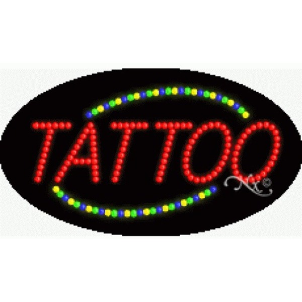 "LED Sign - Tattoo 15""H x 27""W x 1""D (24014)"