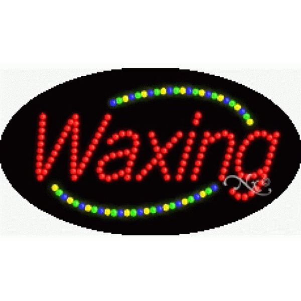 "LED Sign - Waxing 15""H x 27""W x 1""D (24016)"