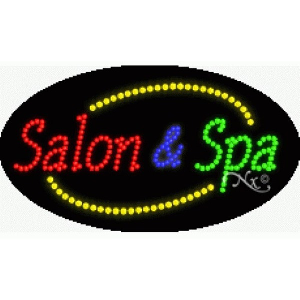 "LED Sign - Salon & Spa 15""H x 27""W x 1""D (24071)"