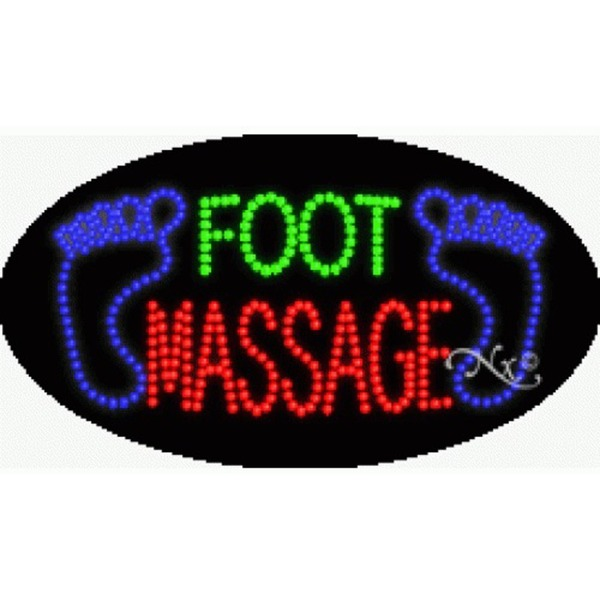 "LED Sign - Foot Massage 15""H x 27""W x 1""D (24109)"