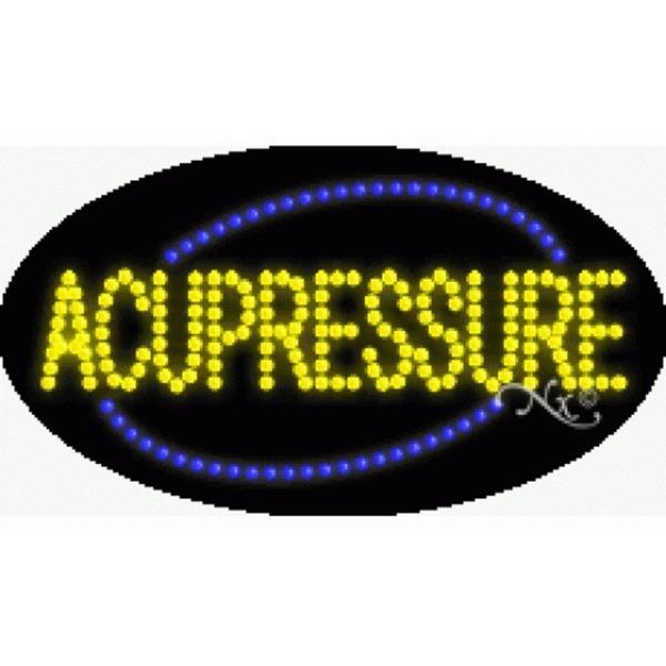 "LED Sign - Acupressure 15""H x 27""W x 1""D (24133)"