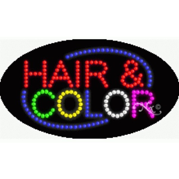 "LED Sign - Hair & Color 15""H x 27""W x 1""D (24222)"