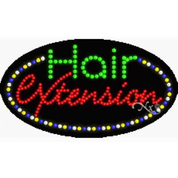 "LED Sign - Hair Extension 15""H x 27""W x 1""D (24391)"
