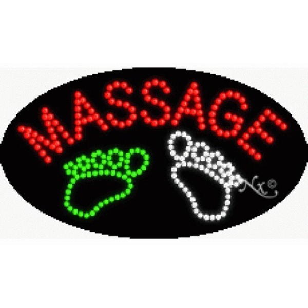 "LED Sign - Foot Massage 15""H x 27""W x 1""D (24457)"