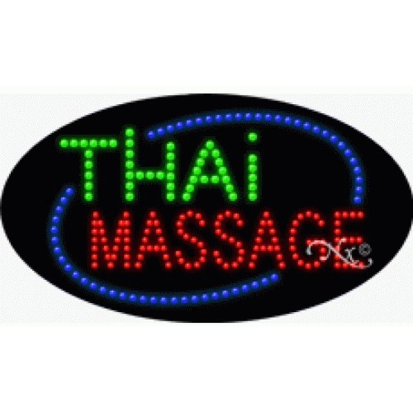 "LED Sign - Thai Massage 15""H x 27""W x 1""D (24607)"