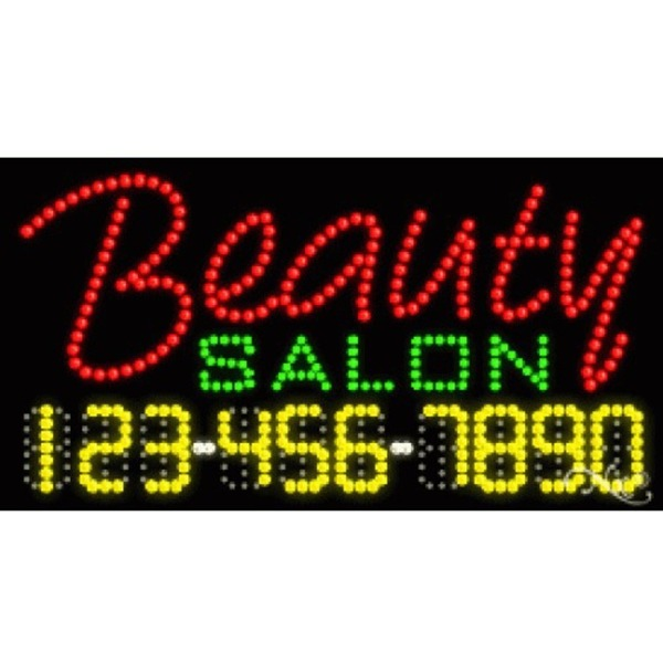 "LED Sign - Beauty Salon 17""H x 32""W x 1""D (25001)"