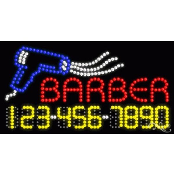"LED Sign - Barber 17""H x 32""W x 1""D (25046)"
